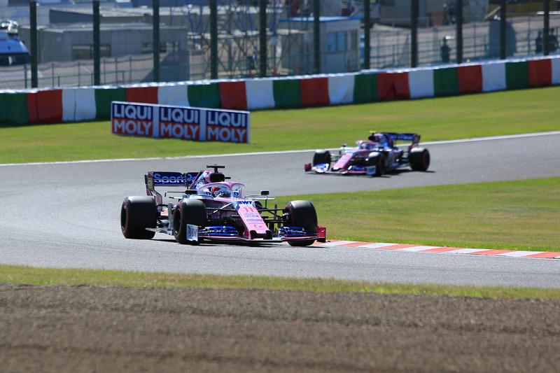 Sergio Pérez and Lance Stroll - SportPesa Racing Point F1 Team in the 2019 Formula 1 Japanese Grand Prix - Suzuka International Racing Course - Qualifying