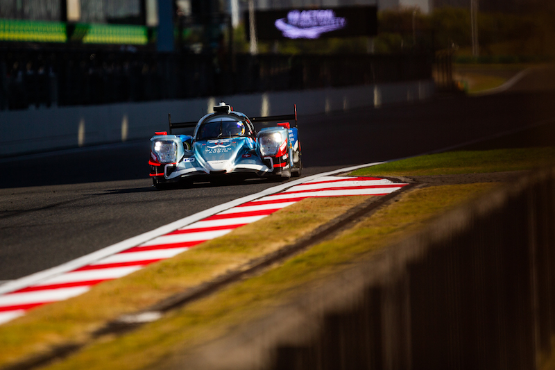 42 Cool Racing LMP2 pole-sitting car on track at Shanghai International Circuit, 2019