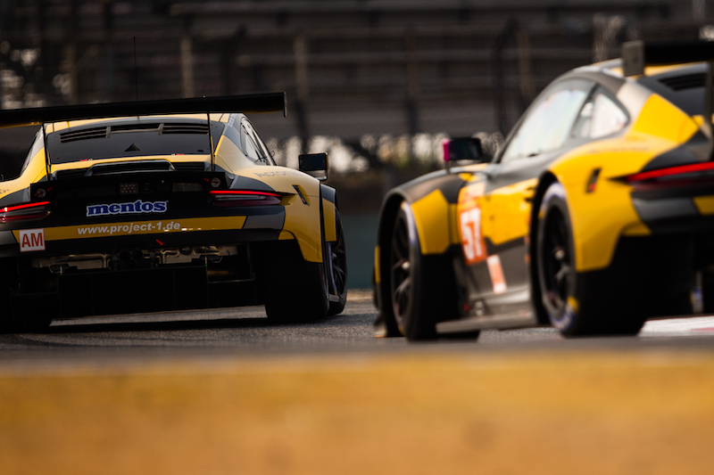 GTE Am battle at the 4 Hours of Shanghai, WEC 2019