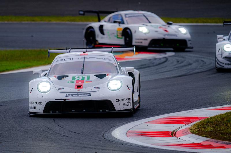 Porsche GT Team leading Porsche GT Team on track at Fuji Speedway