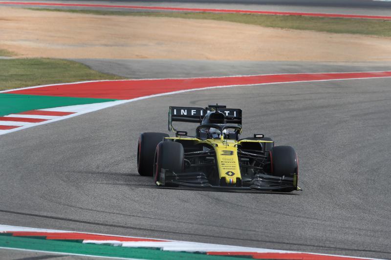 Daniel Ricciardo - Renault F1 Team in the 2019 Formula 1 United States Grand Prix - Circuit of the Americas - Free Practice 2