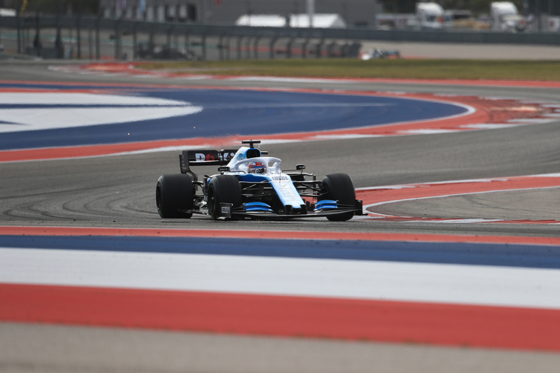 George Russell - ROKiT Williams Racing in the 2019 Formula 1 United States Grand Prix - Circuit of the Americas - Free Practice 2