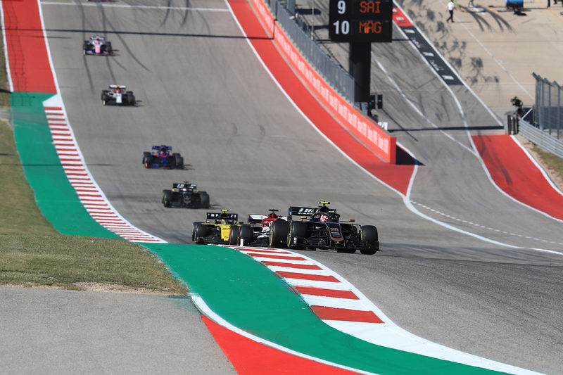 Kevin Magnussen - Haas F1 Team in the 2019 Formula 1 United States Grand Prix - Circuit of the Americas - Race