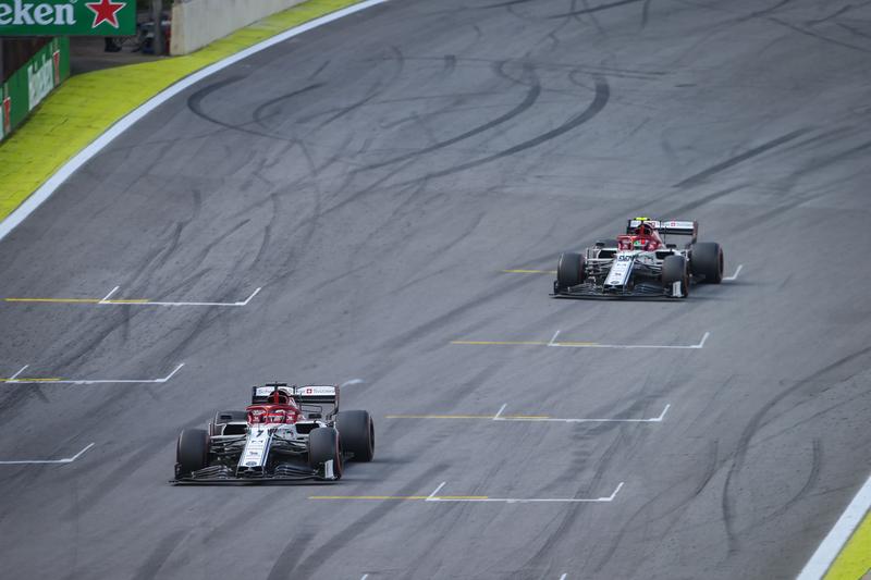 Kimi Räikkönen & Antonio Giovinazzi - Alfa Romeo Racing in the 2019 Formula 1 Brazilian Grand Prix - Autódromo José Carlos Pace - Race