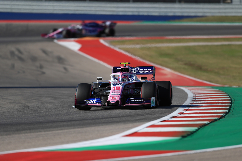 Lance Stroll - SportPesa Racing Point F1 Team in the 2019 Formula 1 United States Grand Prix - Circuit of the Americas - Qualifying