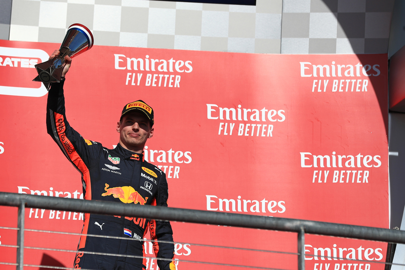 Max Verstappen - Aston Martin Red Bull Racing in the 2019 Formula 1 United States Grand Prix - Circuit of the Americas - Podium