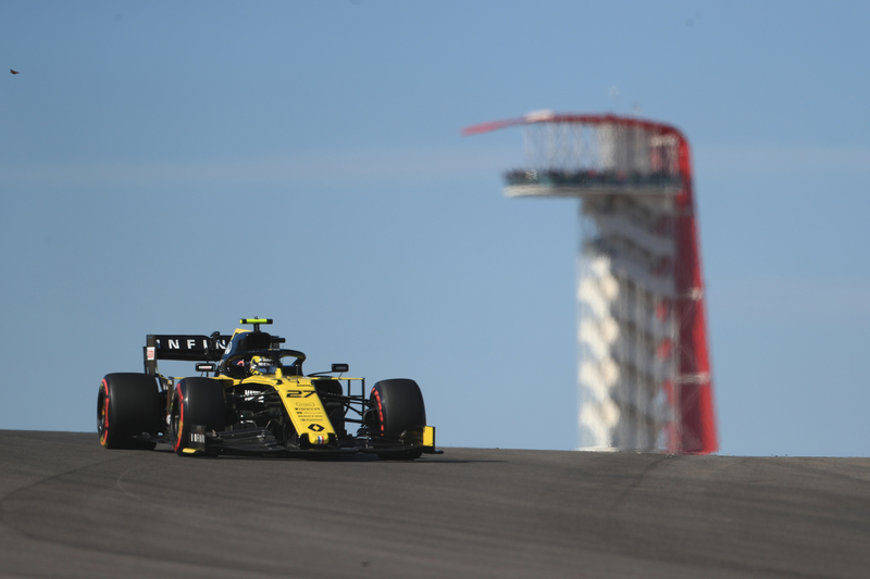 Nico Hülkenberg - Renault F1 Team in the 2019 Formula 1 United States Grand Prix - Circuit of the Americas - Free Practice 1