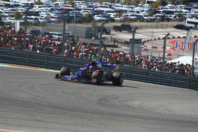 Pierre Gasly - Red Bull Toro Rosso Honda in the 2019 Formula 1 United States Grand Prix - Circuit of the Americas - Race