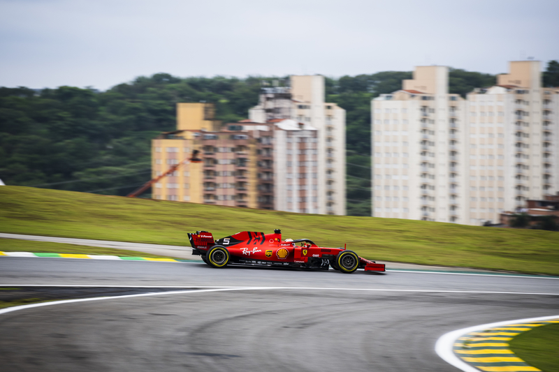 Sebastian Vettel - Scuderia Ferrari in the 2019 Formula 1 Brazilian Grand Prix - Autódromo José Carlos Pace - Free Practice 2