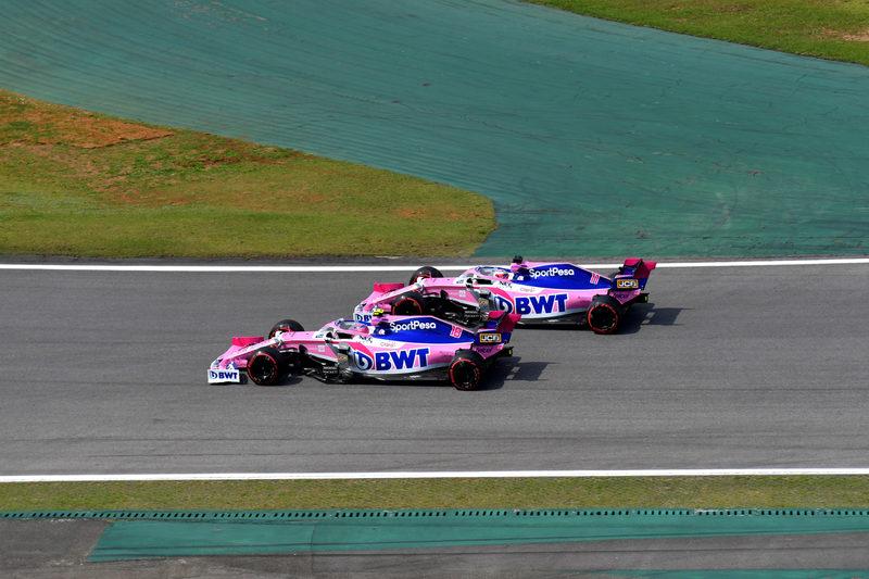 Lance Stroll & Sergio Pérez - SportPesa Racing Point F1 Team in the 2019 Formula 1 Brazilian Grand Prix - Autódromo José Carlos Pace - Race