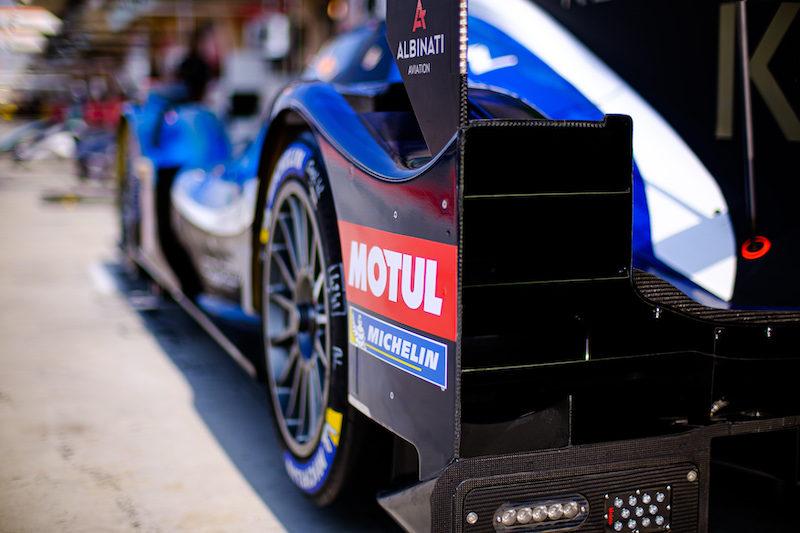 #42 Cool Racing LMP2 car in pit lane, Bahrain, 2019
