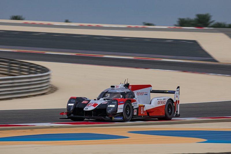#8 Toyota Gazoo Racing LMP1 car on track at Bahrain, 2019