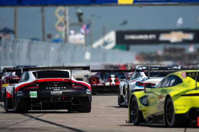 The FIA World Endurance Championship gridding up for the 2019 1,000 Miles of Sebring