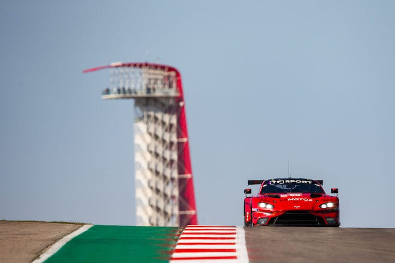 #90 TF Sport on track at Circuit of the Americas, 2020