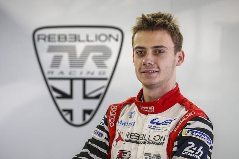 Louis Delétraz debuting for Rebellion Racing in FIA World Endurance Championship