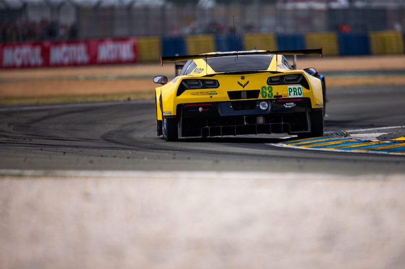 #63 Corvette Racing on track at the 2019 24 Hours of Le Mans