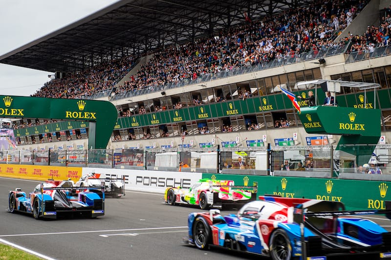 2019 24 Hours of Le Mans grid starting the race