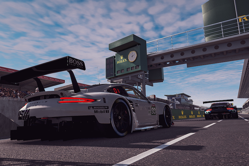GTE cars for Le Mans 24 Hours Virtual Qualifying
