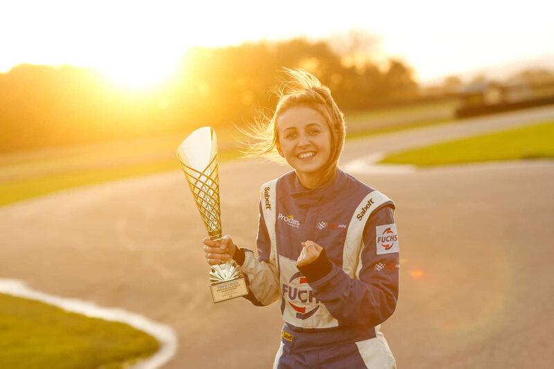 Drew Bellerby with her 2019 BMW Mini RX Trophy