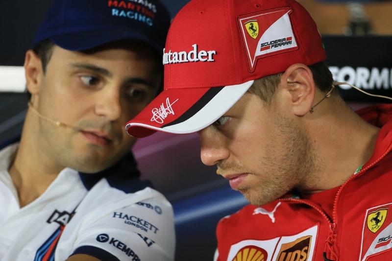 Felipe Massa and Sebastian Vettel