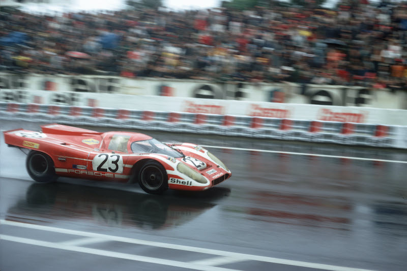 #23 Porsche 917 KH taking victory at the 24 Hours of Le Mans, 1970