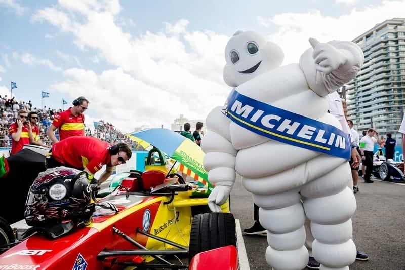 Michelin man at Formula E race