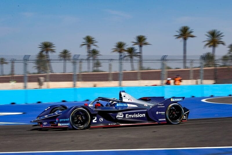 Nick Cassidy during Marrakesh rookie test