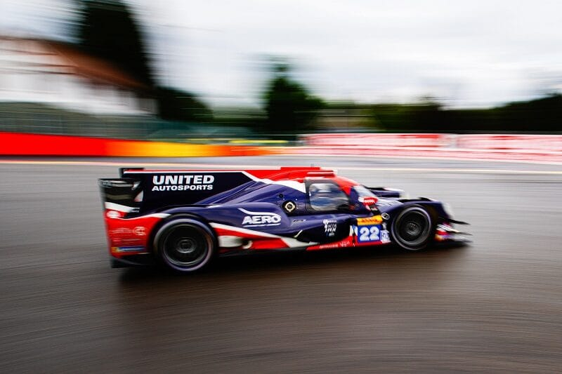 #22 United Autosports racing on track during the 6 Hours of Spa-Francorchamps, 2020