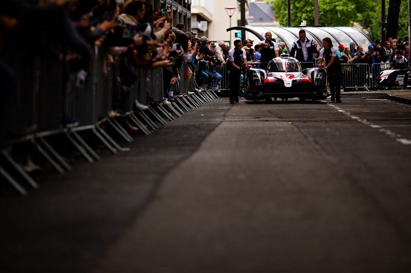#7 Toyota Gazoo Racing arriving for scrutineering at Le Mans
