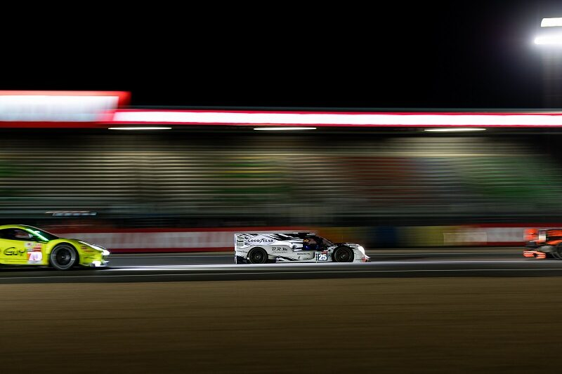 Night time racing in free practice three for the 24 Hours of Le Mans 2020