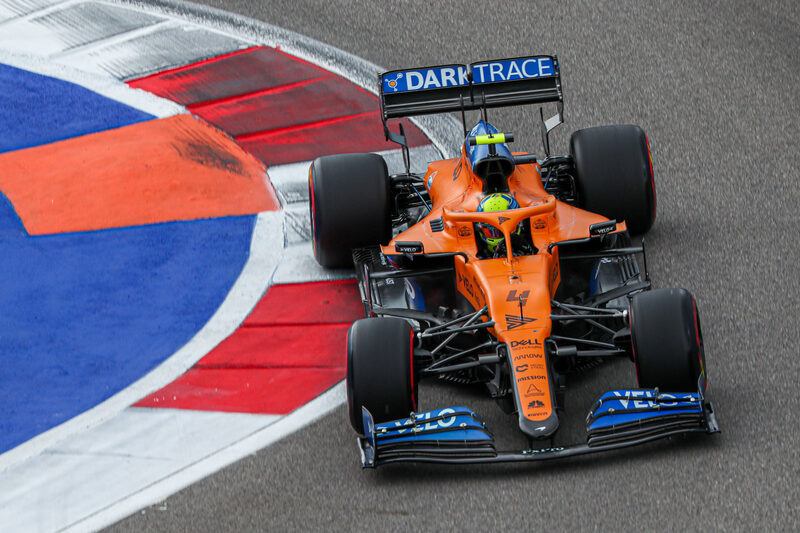 Mclaren Very Happy With Two Top Ten Starts In Russian Gp Qualifying The Checkered Flag