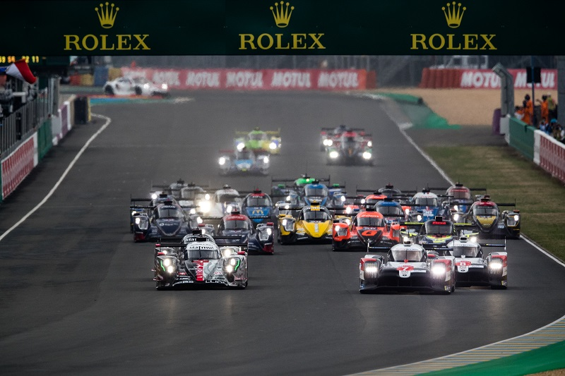 Start of the 2020 24 Hours of Le Mans
