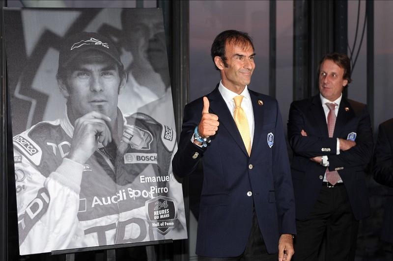 Emanuele Pirro at awards ceremony