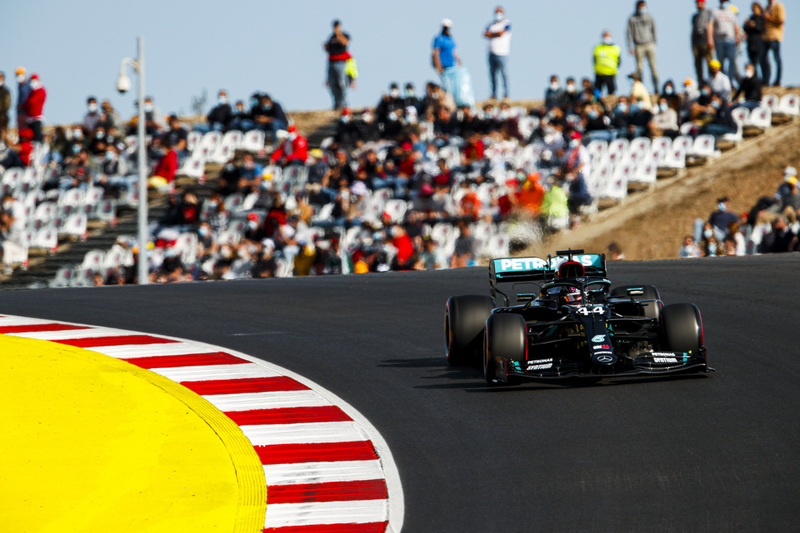 Lewis Hamilton takes pole in Portugal; the 97th of his Formula 1 career - The Checkered Flag