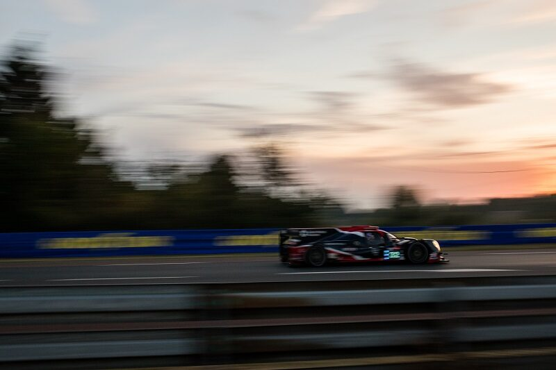 #22 Untied Autosport LMP2 car on track at Le Mans