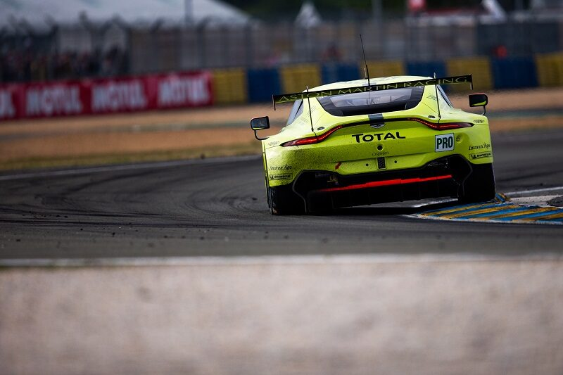 #95 Aston Martin Racing LM GTE Pro on track at Le Mans