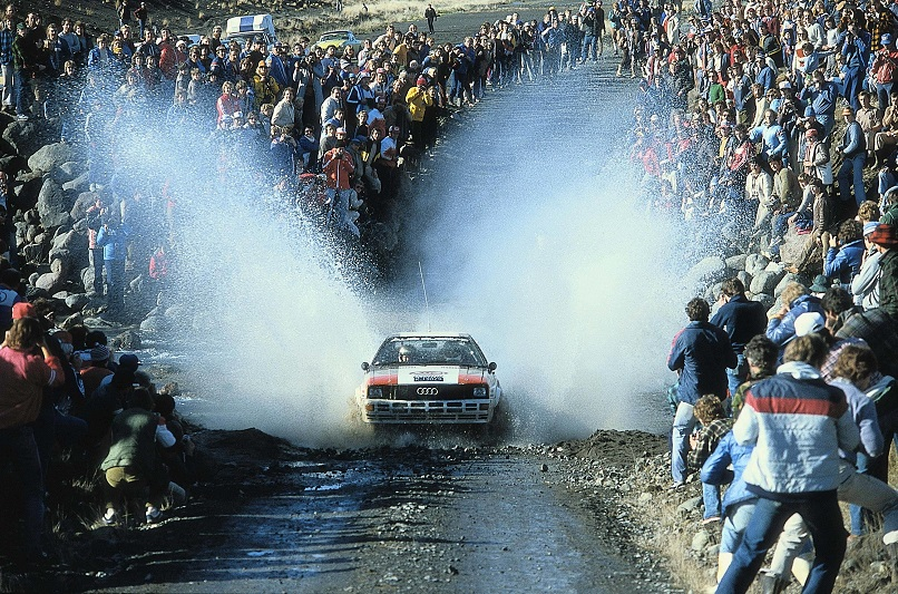 Audi quattro claiming victory in the World Rally Championship for Manufacturers, 1982