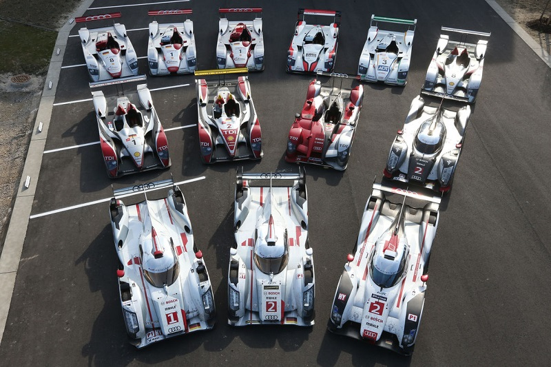 Audi Le Mans Prototypes through the years