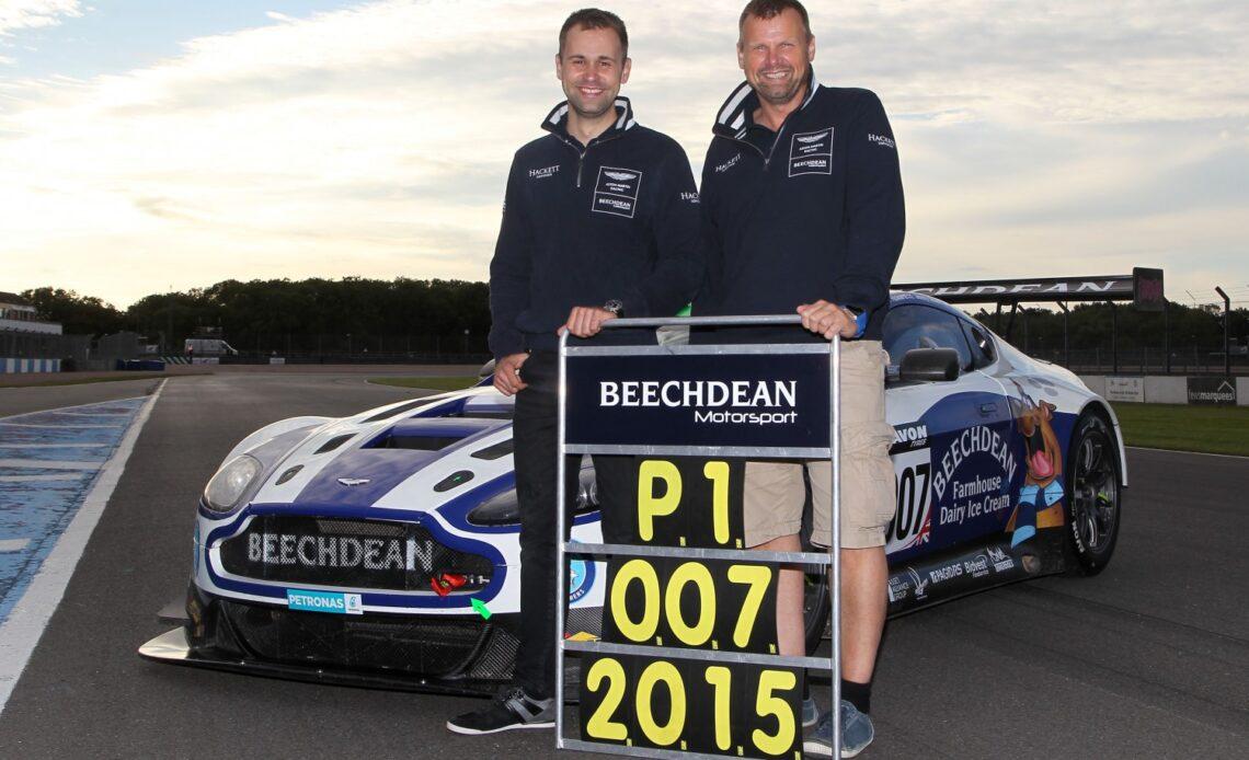 Jonny Adam and Andrew Howard with their 2015 British GT title-winning Beechdean AMR Aston Martin.