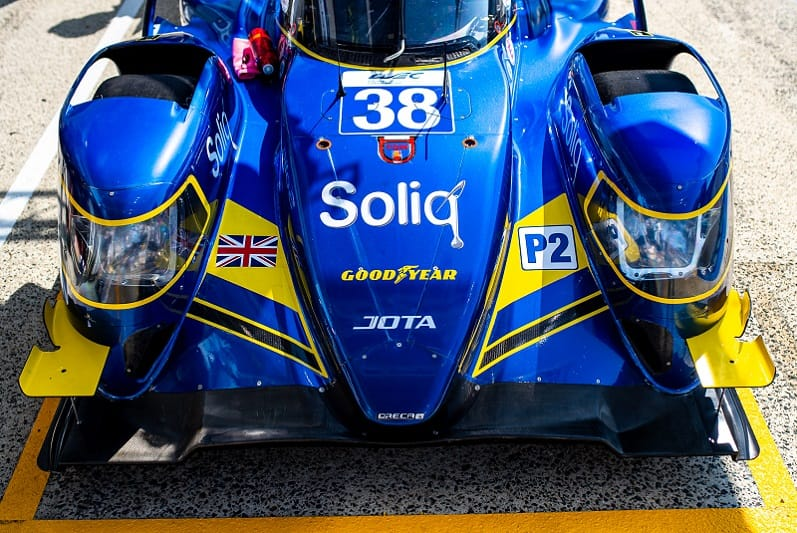 #38 JOTA LMP2 car in the pit lane at 2020 24 Hours of Le Mans