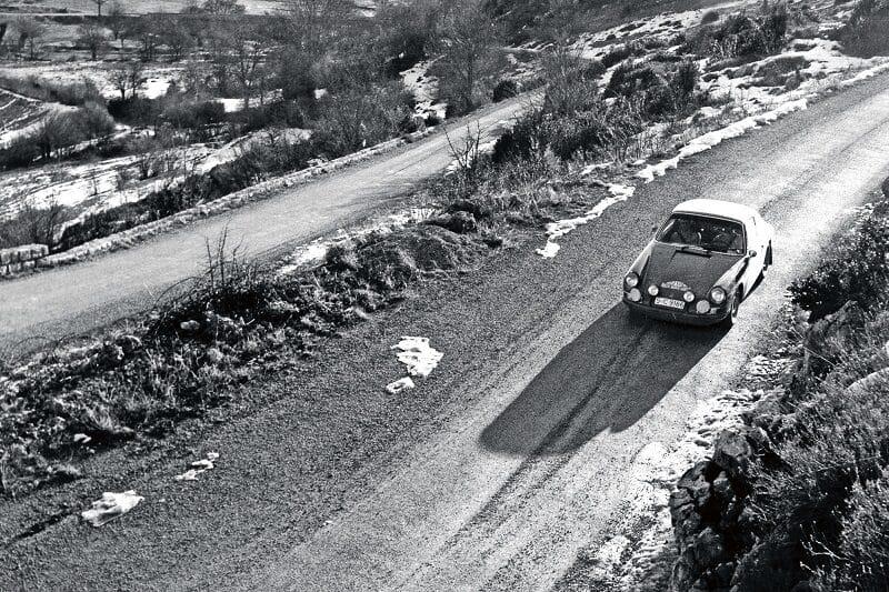 Porsche 911 Winning the Monte Carlo Rally 1968