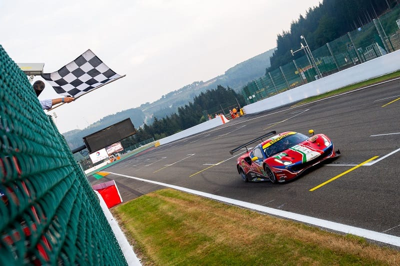 #71 AF Corse crossing the line at the 2020 6 Hours of Spa-Francorchamp