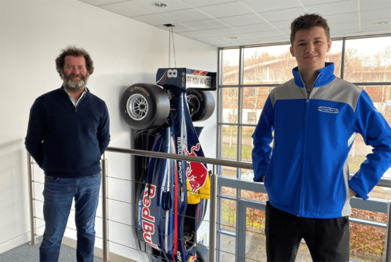 American Bryce Aron has moved up to BRDC British F3 with Carlin for the 2021 season