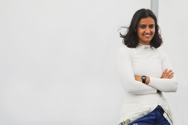 Reema Juffali has moved up to BRDC British F3 with Douglas Motorsport.