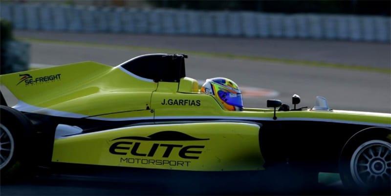 Jose Garfias tests for Elite Motorsport at Valencia in December 2020.