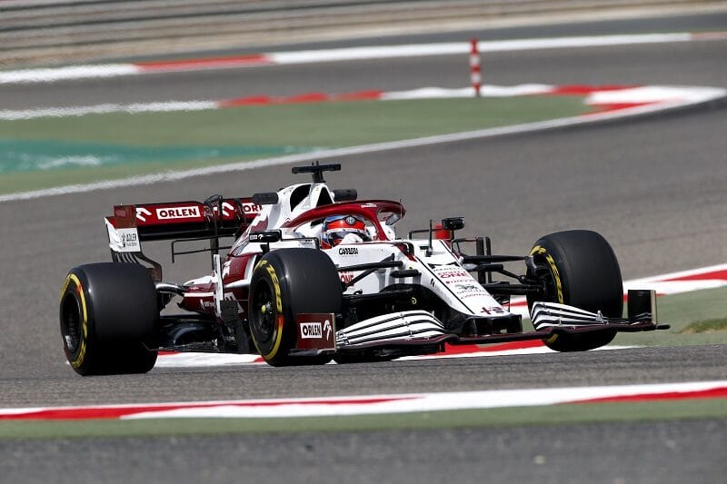 Kimi Räikkönen Positive After Trouble-Free Opening Day of Testing in Bahrain