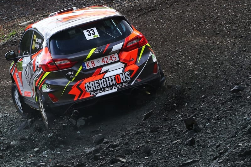 William in action during the Cambrian Rally