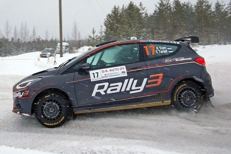 Driver Ken Torn and Co-Driver Timo Taniel at the SM O.K. Auto-Ralli in Finland