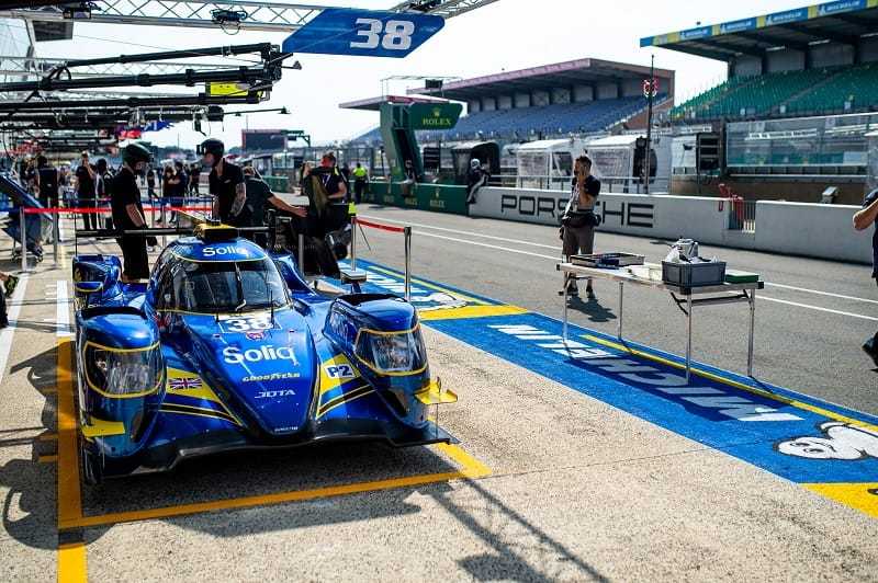 #38 JOTA LMP2 Car in the pits at the 24 Hours of Le Mans, 2020