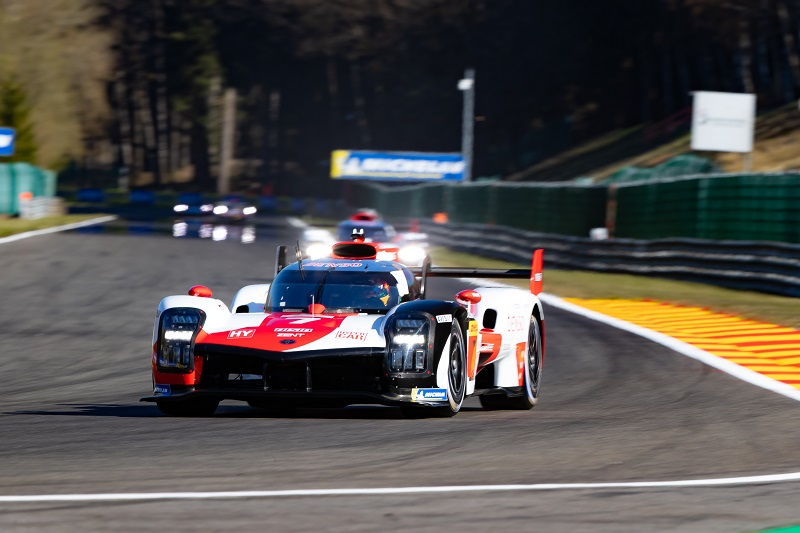 #7 Toyota Gazoo Racing leading the LM field for qualifying at Spa-Francorchamps, 2021